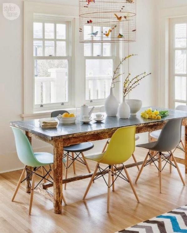 Kết hợp bàn gỗ kiểu cũ với ghế hiện đại - xu hướng mới cho phòng ăn gia đình - Ảnh 10.