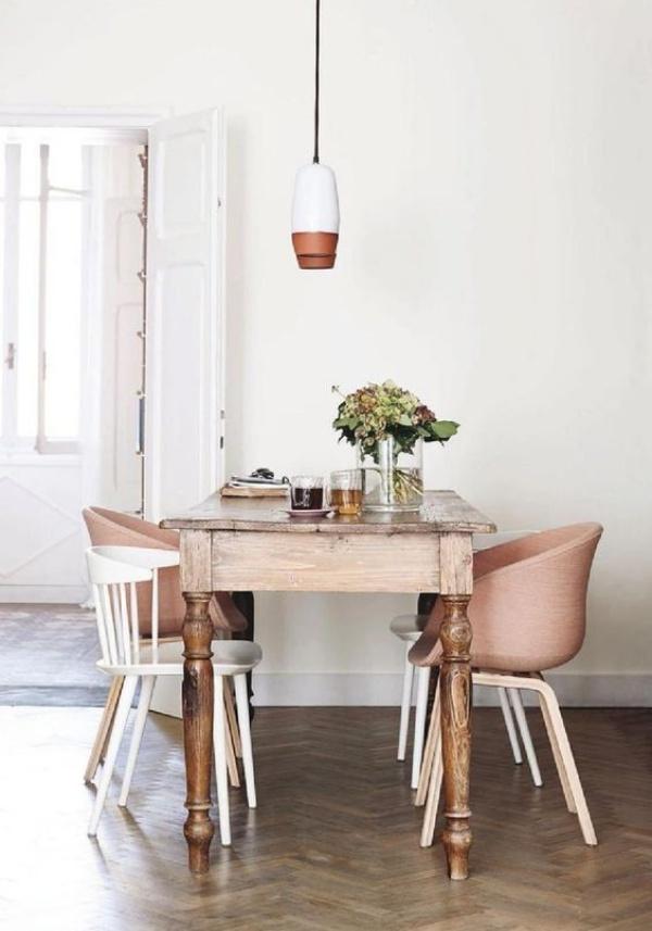 Kết hợp bàn gỗ kiểu cũ với ghế hiện đại - xu hướng mới cho phòng ăn gia đình - Ảnh 14.