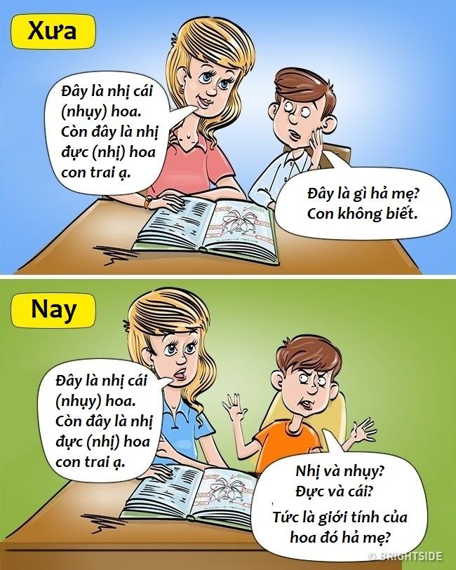 Bộ tranh hài hước so sánh khác biệt một trời một vực giữa trẻ con thời xưa và thời nay - Ảnh 5.