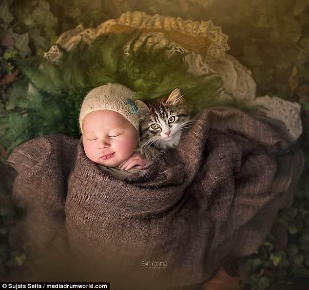 Ngắm những thiên thần bé nhỏ say gấc bên thú cưng đáng yêu - Ảnh 6.