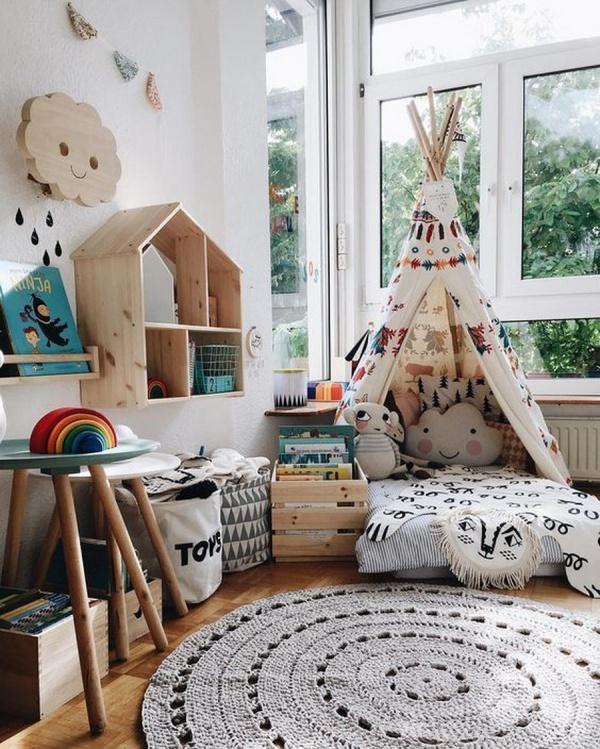 Phát triển thị giác và tính năng động cho trẻ nhờ trang trí phòng theo phong cách Bohemian - Ảnh 2.