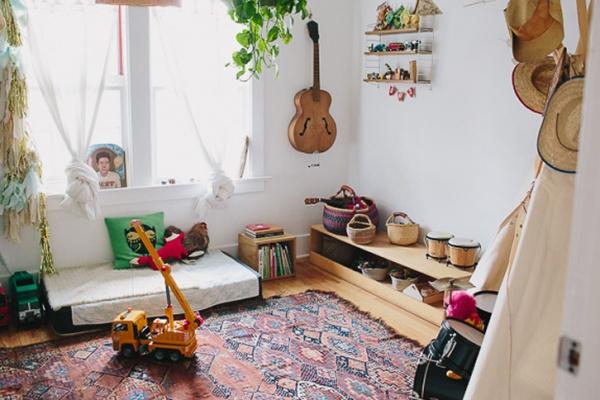 Phát triển thị giác và tính năng động cho trẻ nhờ trang trí phòng theo phong cách Bohemian - Ảnh 4.