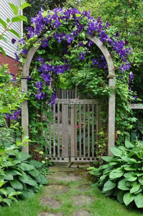 Những khu vườn trở nên lãng mạn và ngọt ngào nhờ cổng vòm rực rỡ sắc hoa - Ảnh 2.