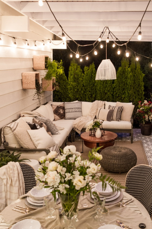 Phòng khách ngoài trời, ý tưởng tuyệt vời tận hưởng hương vị mùa hè - Ảnh 1.