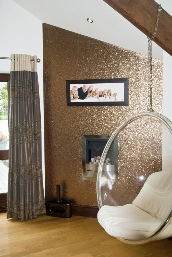 Bức tường với điểm nhấn tạo vẻ đẹp nghệ thuật cho không gian bằng sơn nhũ - Ảnh 4.