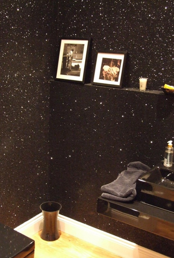 Bức tường với điểm nhấn tạo vẻ đẹp nghệ thuật cho không gian bằng sơn nhũ - Ảnh 12.