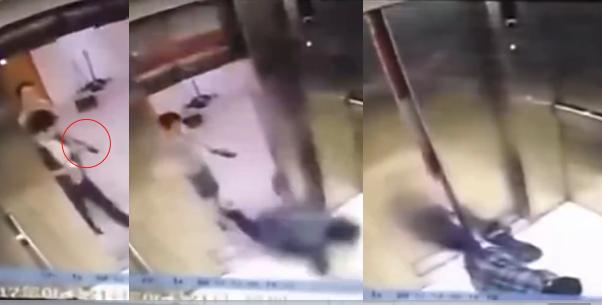 Mải mê xem điện thoại, người phụ nữ vấp té và bị thang máy nghiến mất chân - Ảnh 1.