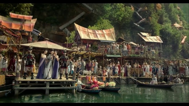 1000 mỹ nữ lưng trần nuột nà tắm suối gây mê mẩn trong phim chiếu Tết - Ảnh 1.