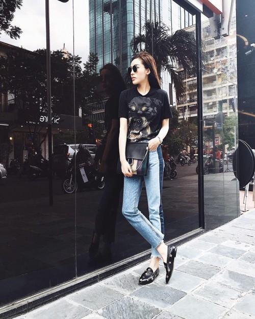 Kỳ Duyên, Bảo Anh rủ nhau diện giày Gucci, Minh Hằng sành điệu với sneaker đắt đỏ - Ảnh 2.