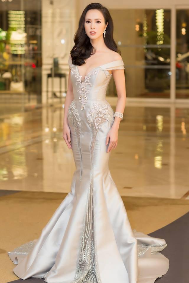 Vũ Ngọc Anh kiêu sa, lộng lẫy là thế vẫn lùi bước trước Hồ Ngọc Hà khi diện chung một mẫu váy - Ảnh 2.