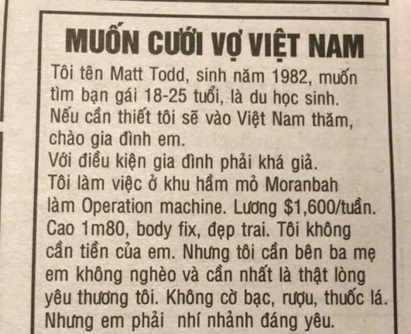 Đăng tin 'muốn cưới vợ Việt Nam', anh chàng ngoại quốc gây xôn xao cư dân mạng - Ảnh 1.
