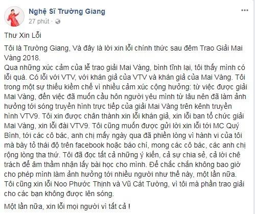 Chê lời xin lỗi của Trường Giang, Quý Bình tiếp tục bị tấn công - Ảnh 1.