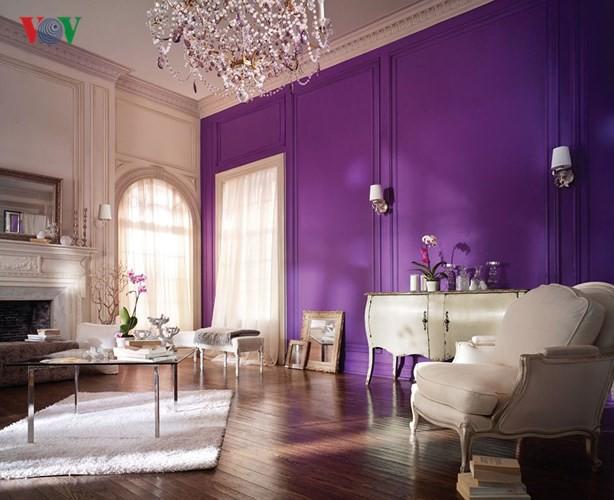 Lãng mạn sắc tím trong thiết kế nội thất - Ảnh 2.