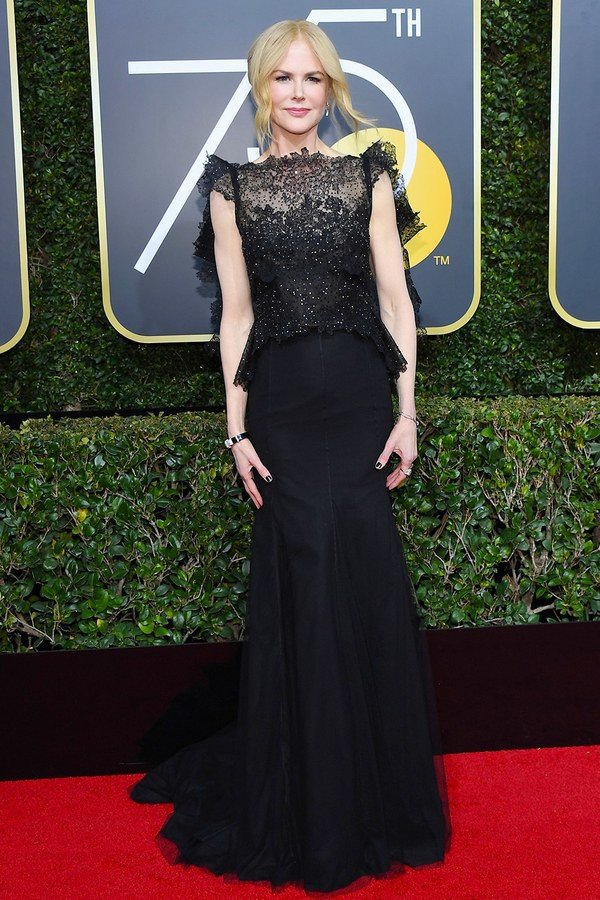 Thảm đỏ Quả Cầu Vàng 2018 ấn tượng hơn bội phần vì dàn mỹ nhân Hollywood mặc đồ đen - Ảnh 13.