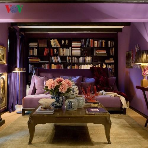 Lãng mạn sắc tím trong thiết kế nội thất - Ảnh 3.