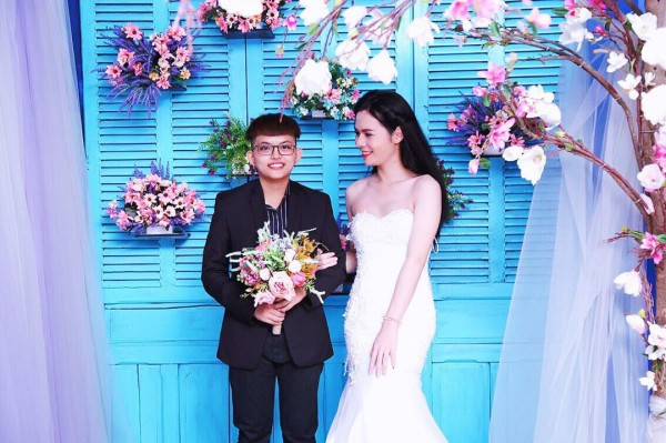 Bộ ảnh cưới 'chụp trước, cưới sau' của cặp đôi hoán đổi giới tính cho nhau - Ảnh 4.