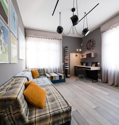 Ấn tượng với căn hộ kết hợp màu sắc trắng đen - Ảnh 8.