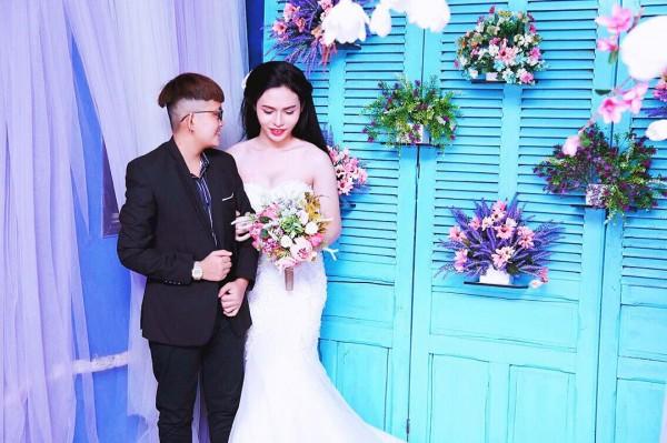 Bộ ảnh cưới 'chụp trước, cưới sau' của cặp đôi hoán đổi giới tính cho nhau - Ảnh 9.