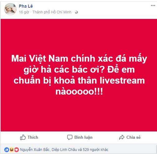 Ca sĩ Pha Lê bị ném đá vì trót tuyên bố khỏa thân livestream xem U23 chiến thắng - Ảnh 2.