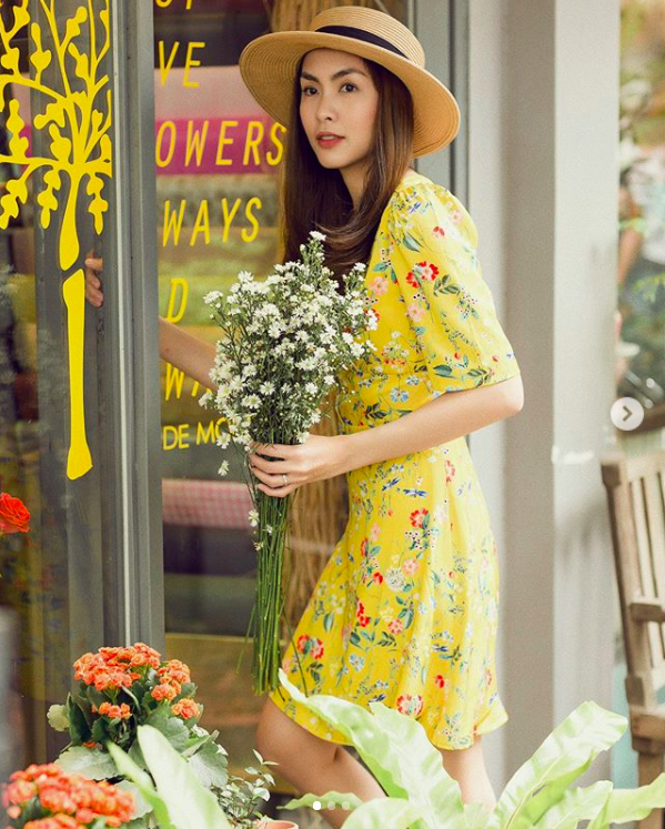 Học theo Kate và Meghan, các người đẹp Việt cũng đang diện váy áo vàng tươi chói lòa - Ảnh 7.