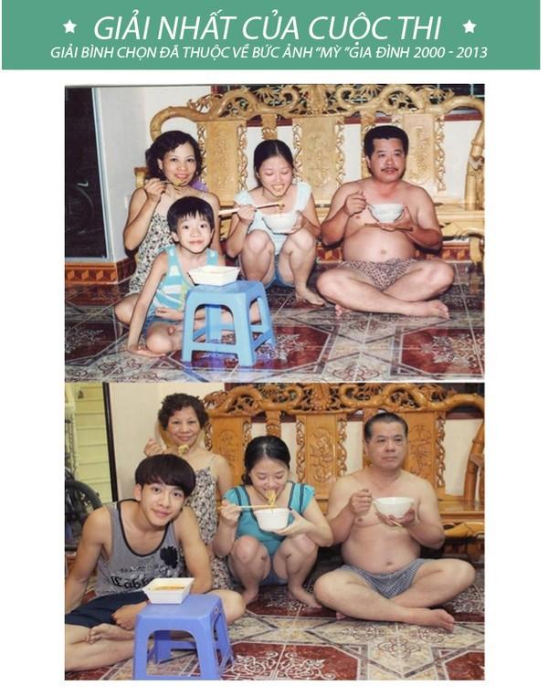 Được chia sẻ lại sau nhiều năm, bức ảnh gia đình cùng ăn mì này đã khiến bao trái tim thổn thức ngày cận Tết - Ảnh 2.