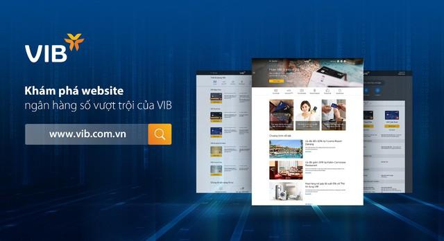 VIB giới thiệu website ngân hàng số hoàn toàn mới - Ảnh 1.