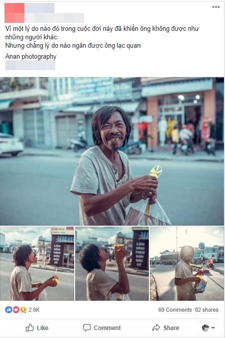 Nụ cười vô lo của người đàn ông lang thang khiến nhiều người cảm thấy bình yên: Dù giàu hay nghèo hãy luôn hạnh phúc với hiện tại - Ảnh 1.