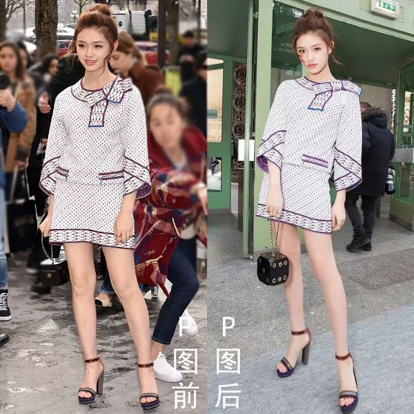 Triệu Vy, Dương Mịch, Angela Baby bị óc mẽ đôi chân thiếu nuột nà… trong loạt ảnh trước – sau photoshop - Ảnh 14.