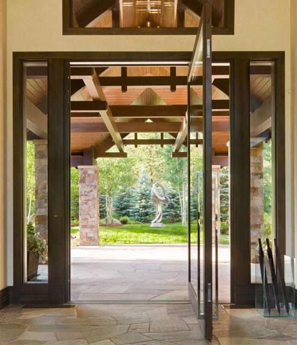 15 mẫu thiết kế cửa gỗ hiện đại, sang chảnh dành cho những không gian muốn làm mới trong dịp Tết - Ảnh 8.