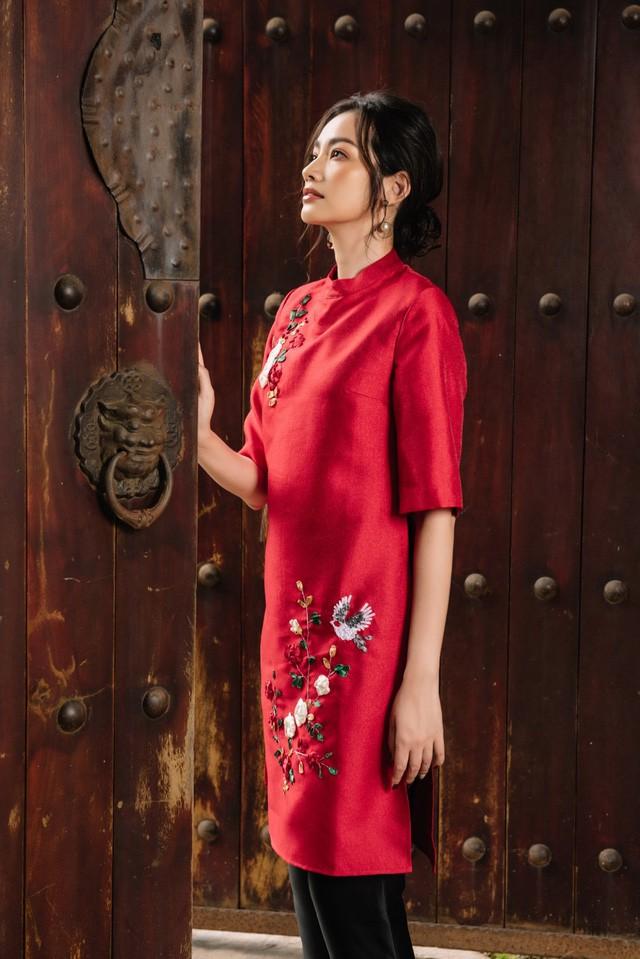 Hoa Hậu Trúc Diễm yêu kiều trong Bộ sưu tập áo dài của NEVA - Ảnh 5.