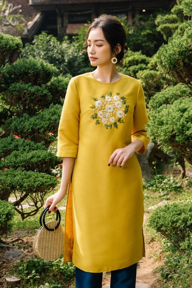 Hoa Hậu Trúc Diễm yêu kiều trong Bộ sưu tập áo dài của NEVA - Ảnh 6.