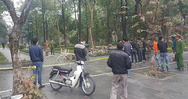 Vụ án mạng ở vườn hoa Hà Đông: Cử lực lượng công an tinh nhuệ tìm hung thủ - Ảnh 1.