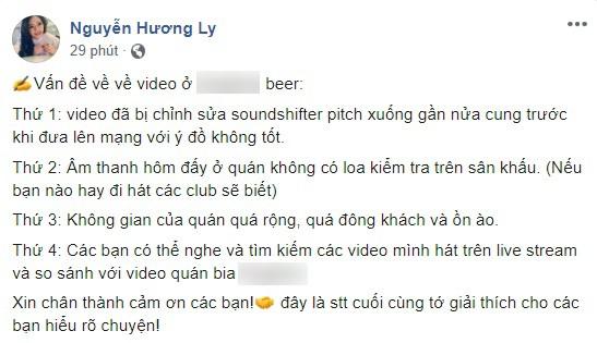 """Giữa """"tâm bão"""" bị chê hát dở, dân mạng """"đào"""" lại clip của Hương Ly hát live ở show truyền hình từng được Trấn Thành khen nức nở - Ảnh 1."""