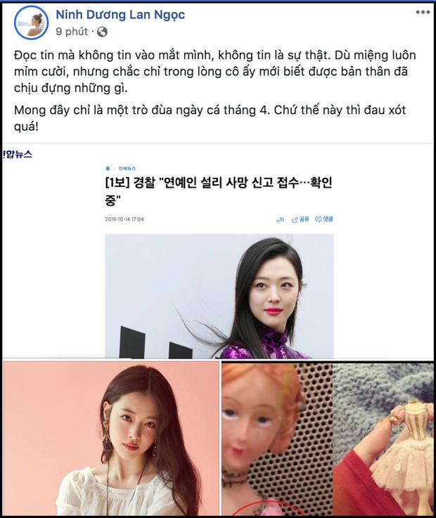 Ninh Dương Lan Ngọc, Hoa hậu Hương Giang cùng dàn sao Việt thương tiếc trước sự ra đi khi còn quá trẻ của Sulli - Ảnh 5.