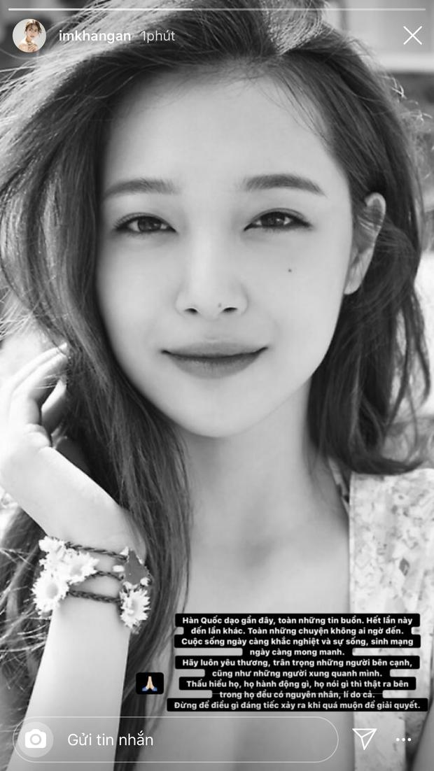 Ninh Dương Lan Ngọc, Hoa hậu Hương Giang cùng dàn sao Việt thương tiếc trước sự ra đi khi còn quá trẻ của Sulli - Ảnh 7.