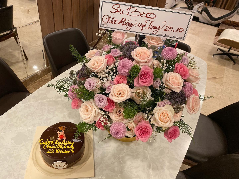 Mối quan hệ đáng ngưỡng mộ giữa Đàm Thu Trang và Subeo: 20/10 không quên tặng 'mẹ kế' món quà bất ngờ 1