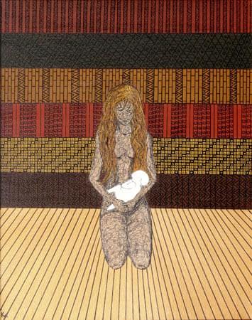 Kim Noble: Nữ họa sĩ có hơn 100 bản ngã và những tác phẩm nghệ thuật ẩn dụ đầy bí ẩn về quá khứ đau thương - Ảnh 7.