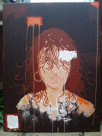 Kim Noble: Nữ họa sĩ có hơn 100 bản ngã và những tác phẩm nghệ thuật ẩn dụ đầy bí ẩn về quá khứ đau thương - Ảnh 12.
