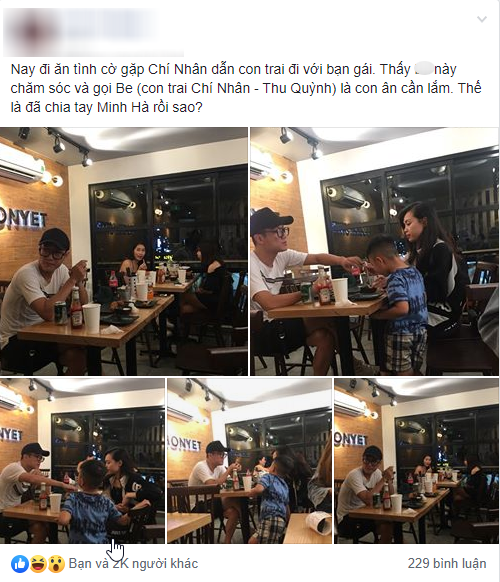 """Minh Hà vừa tuyên bố độc thân, Chí Nhân bị bắt gặp """"hẹn hò""""   tình mới, cách xưng hô với con trai riêng mới gây bất ngờ? - Ảnh 5."""