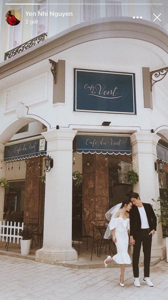 Yến Nhi đăng hình chị gái mặc váy trắng đầu đội voan trắng, nghi vấn Yến Trang chuẩn bị lấy chồng đại gia? - Ảnh 1.