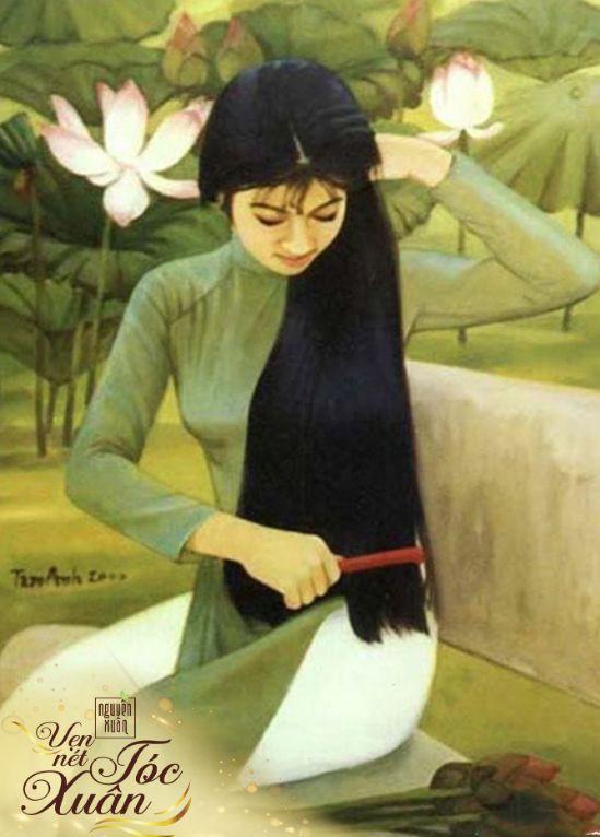 Mái tóc đen dài suôn mượt làm nên vẻ đẹp vượt thời gian của phụ nữ Việt - Ảnh 1.