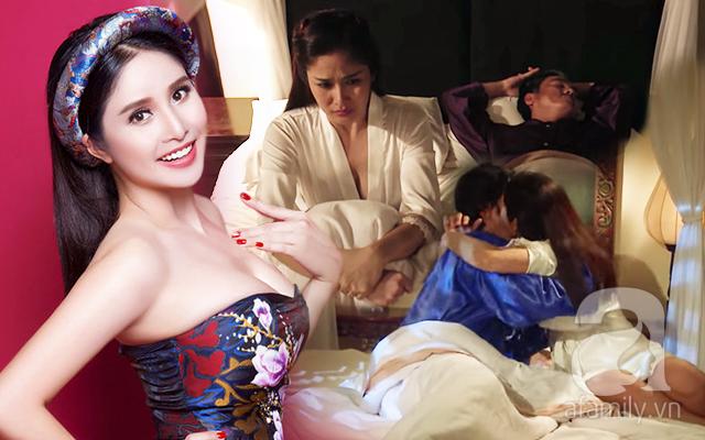 """""""Tiếng sét trong mưa"""": Hạnh Nhi - Thảo Trang công khai chuyện có ngực sexy trong cảnh nóng là nhờ dao kéo size siêu to   - Ảnh 1."""
