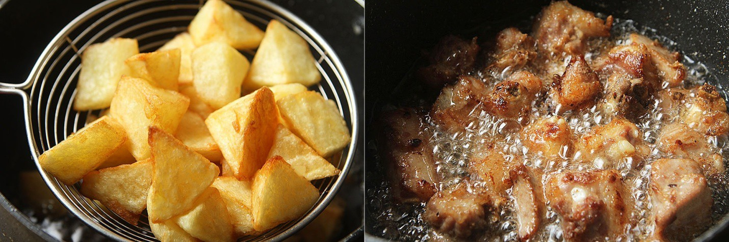 Sườn xào khoai tây - món mặn ngon cơm cho ngày thu mát trời - Ảnh 3.