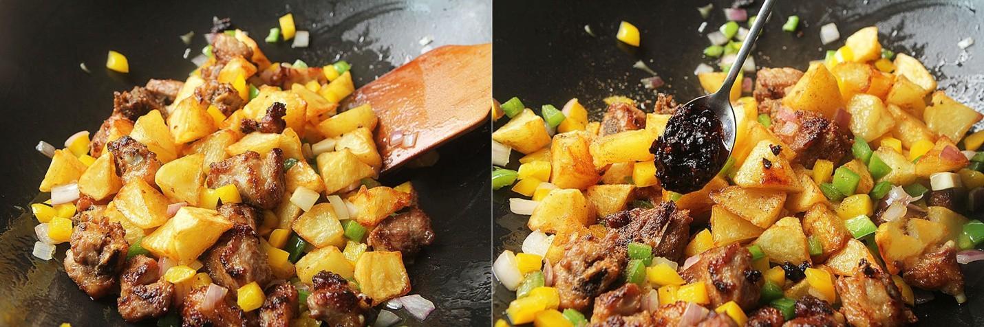 Sườn xào khoai tây - món mặn ngon cơm cho ngày thu mát trời - Ảnh 5.