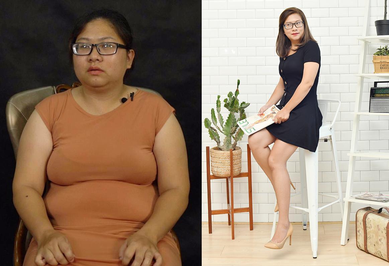 """Sau 2 tháng giảm 20 kg, mẹ đơn thân lột xác từ """"vịt cực xấu"""" hóa """"thiên nga xinh đẹp"""" - Ảnh 1."""