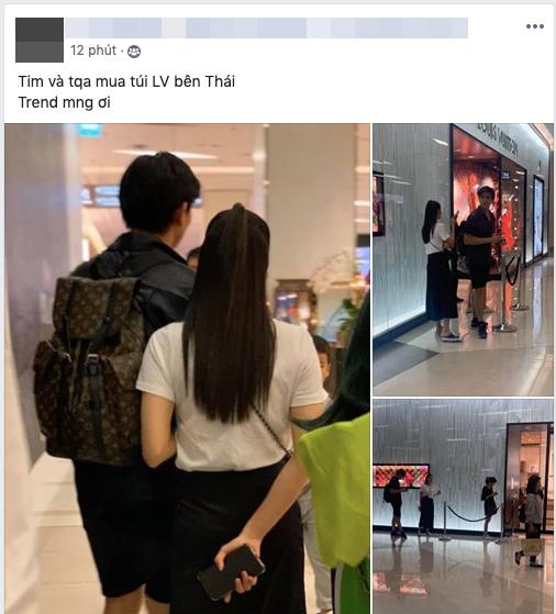 """Cặp đôi gây """"mệt mỏi"""" Tim - Trương Quỳnh Anh lộ ảnh đi Thái Lan mua sắm cùng nhau, nghi vấn đã quay lại sau nhiều lùm xùm? - Ảnh 2."""