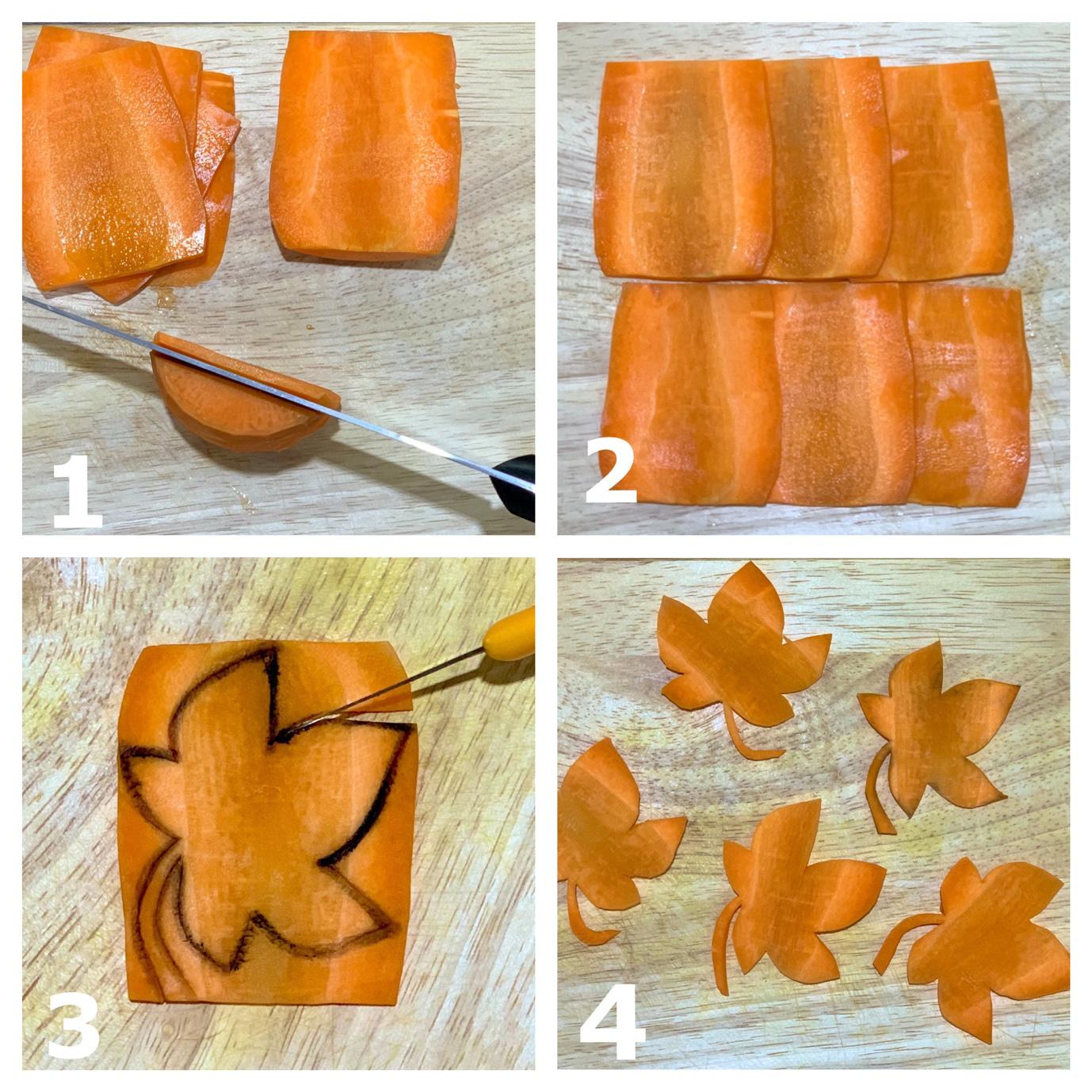 Việt Nam không có lá phong, học ngay cách cắt tỉa cà rốt thành lá phong trang trí đĩa ăn thật lãng mạn - Ảnh 3.