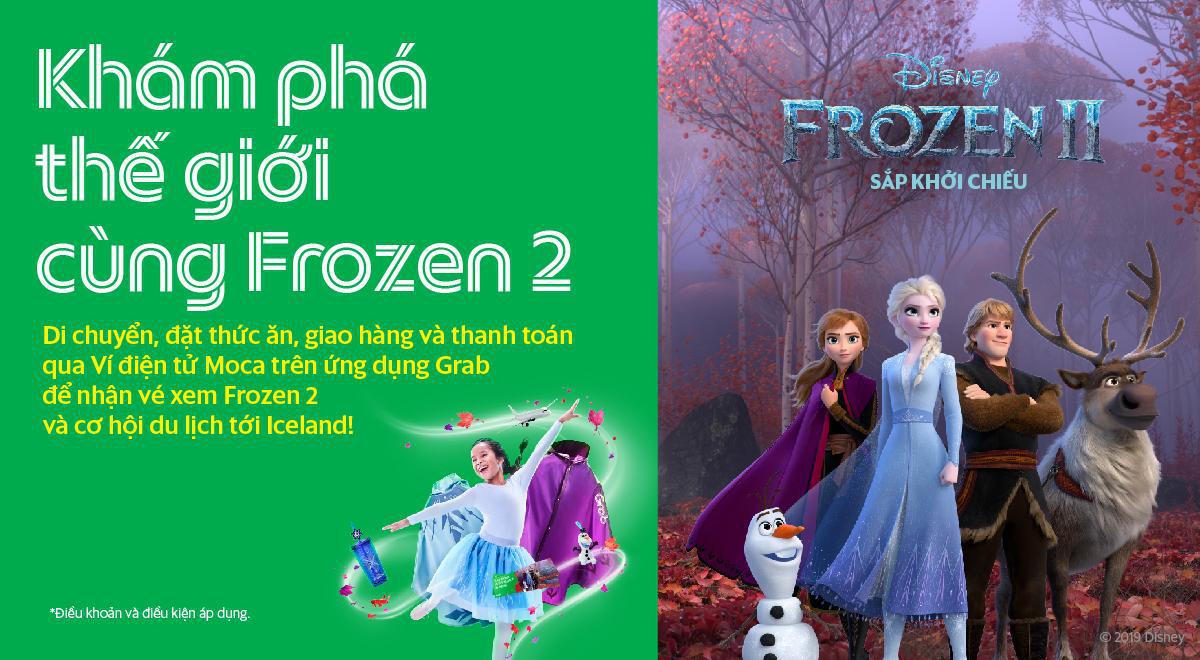 Bố mẹ dùng Grab, bé yêu nhận ngay vé xem phim Frozen 2 và cơ hội khám phá băng đảo Iceland diệu kỳ - Ảnh 1.
