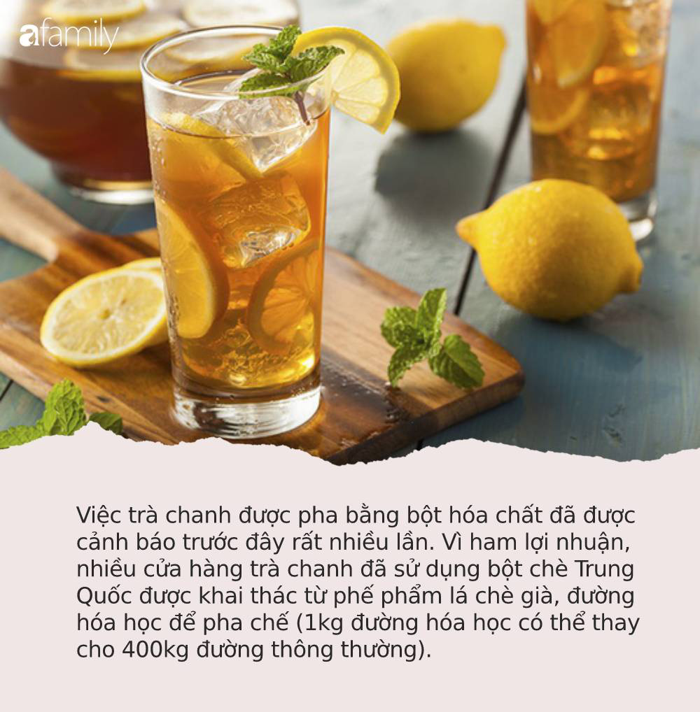 """Sự thật về những cốc trà chanh, trà quất 10k mà giới trẻ """"phát cuồng"""": Được pha bằng hóa chất lạ, coi chừng nhiễm độc mãn tính - Ảnh 6."""