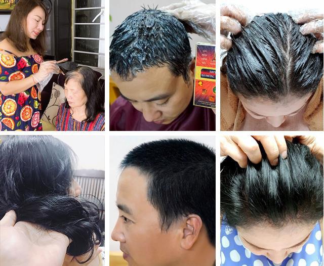Nhà bao việc nhưng các mẹ vẫn rần rần chia sẻ bí kíp phủ đen tóc bạc siêu nhanh siêu an toàn - Ảnh 2.